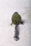 Spoon with spices. Tinted. Shallow depth of field Stock Images