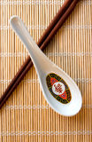 Spoon & Stick Royalty Free Stock Images