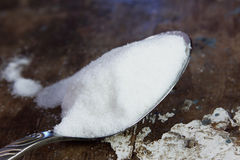 Spoon with sugar Royalty Free Stock Photo