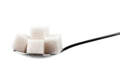 Spoon of sugar Stock Images