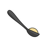 Spoon with sugar powder Stock Images
