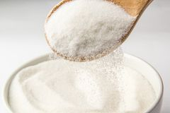 Spoon with sugar Stock Photography