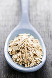 Spoon of uncooked rolled oats Royalty Free Stock Photos