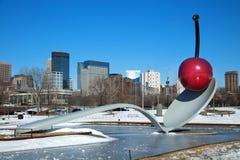 Spoonbridge и вишня в Миннеаполисе стоковое фото