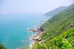 Spoondrift of foothill. Beautiful spoondrift at foothill of south china Royalty Free Stock Photo