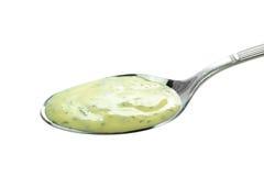 Spoonful śmietankowy kumberland zdjęcia stock