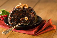 Spoonful Of Christmas Pudding Royalty Free Stock Photos