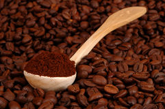 A spoonful of coffee Stock Photos