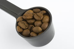 Spoonful Coffee Bean. Spoon Coffee Bean close up Stock Photos