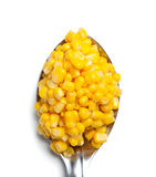 Spoonful of corn Royalty Free Stock Photos
