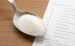 Spoonful di zucchero Fotografia Stock