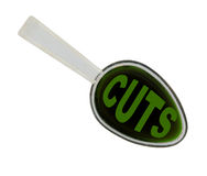 Spoonful of economic medicine - budget cuts  isolated Stock Images