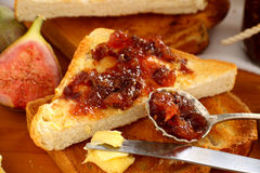 Spoonful Of Fig Jam Royalty Free Stock Photos