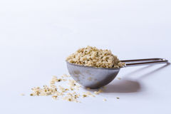 A spoonful of hemp hearts stock photography