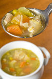 Spoonful of Homemade Chicken Soup Royalty Free Stock Photo
