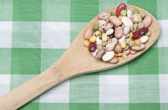 Spoonful of Legumes Royalty Free Stock Photo