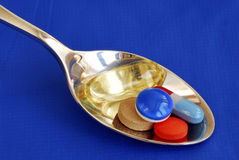 A spoonful of medicine Stock Images