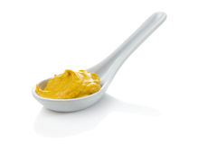 Free Spoonful Of Mustard Stock Image - 33132311
