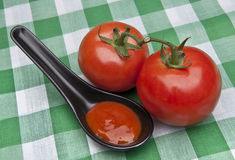 Spoonful of Tomato Soup Royalty Free Stock Photo
