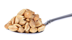 Spoonfull of Peanuts Stock Images