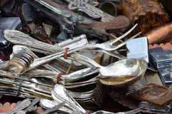 Spoons in a bazaar Royalty Free Stock Image