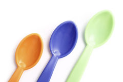 Spoons colors Stock Photography