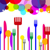 Spoons Cutlery Represents Knife Circle And Ring Royalty Free Stock Images