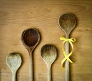 Spoons family Stock Image