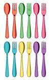 Spoons and fork icons, vector  Royalty Free Stock Photos