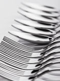 Spoons and forks stock photography