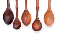 Spoons. Wooden Spoons  on white background Royalty Free Stock Images