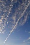Spoor in de hemel Stock Afbeelding