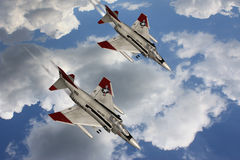 Spoor - de Vliegtuigen van de Vechter Stock Foto's