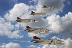 Spoor - de Vliegtuigen van de Vechter Royalty-vrije Stock Foto's