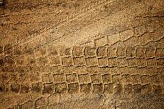 Spoor in het zand Royalty-vrije Stock Foto