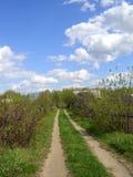 Spoor in platteland stock fotografie