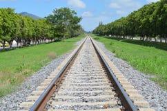 Spoor-trein royalty-vrije stock afbeelding