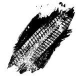 Spoor van de Grunge het zwarte band op witte achtergrond, royalty-vrije illustratie