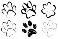 Spoor van hondenreeks Royalty-vrije Stock Afbeeldingen
