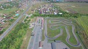 Spoor voor het karting Lucht Mening stock videobeelden