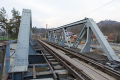 Spoorbrug Royalty-vrije Stock Foto