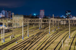 Spoorlijnen Royalty-vrije Stock Afbeeldingen