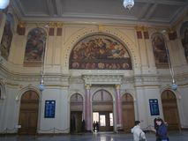 Spoorpost, Kecskemet, Hongarije Stock Afbeelding