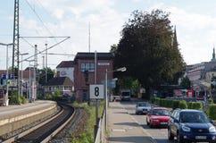 Spoorpost van Offenburg Stock Foto's
