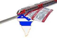 Spoorreis in Israël, concept het 3d teruggeven stock illustratie