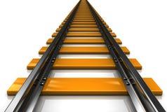 Spoorweg stock illustratie