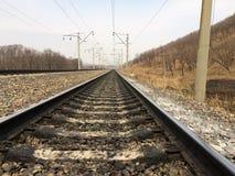 Spoorweg 1520 Stock Afbeeldingen