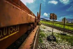 Spoorweg stock foto