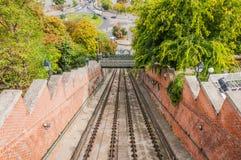 Spoorweg aan Buda Castle royalty-vrije stock afbeelding