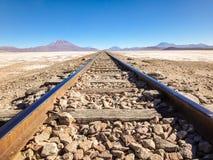 Spoorweg aan Chili Stock Afbeeldingen